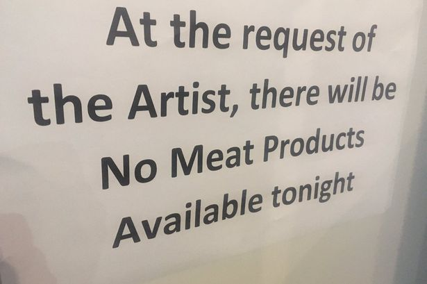 Morrissey bans sales of meat at concert venue and shows slaughterhouse footage during set