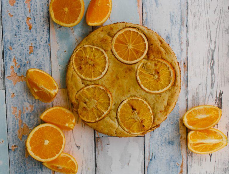 Sugar-free vegan orange cake