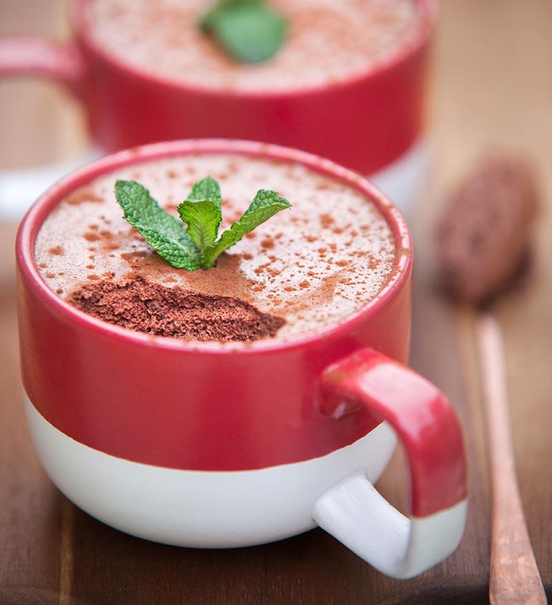 Luxurious vegan aquafaba chocolate mousse