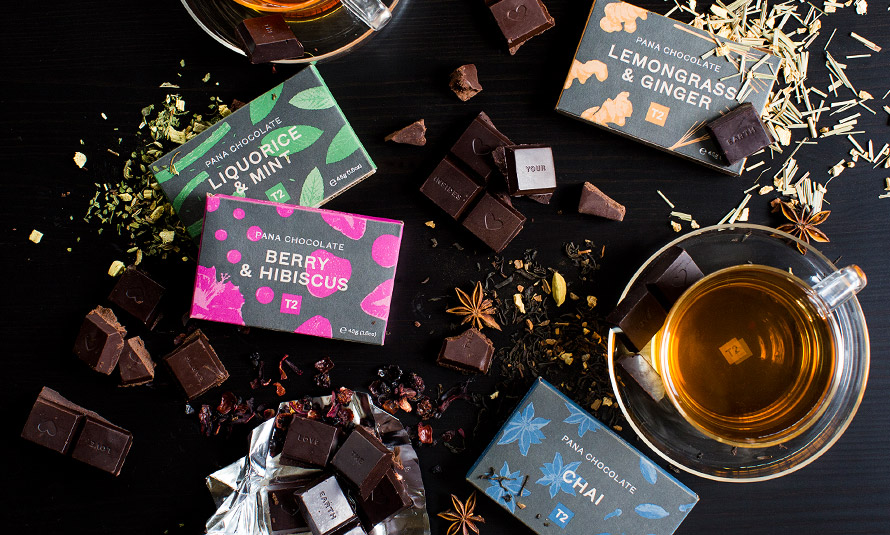 WIN! A limited edition box of T2 teas and Pana Chocolate vegan chocolate bars!