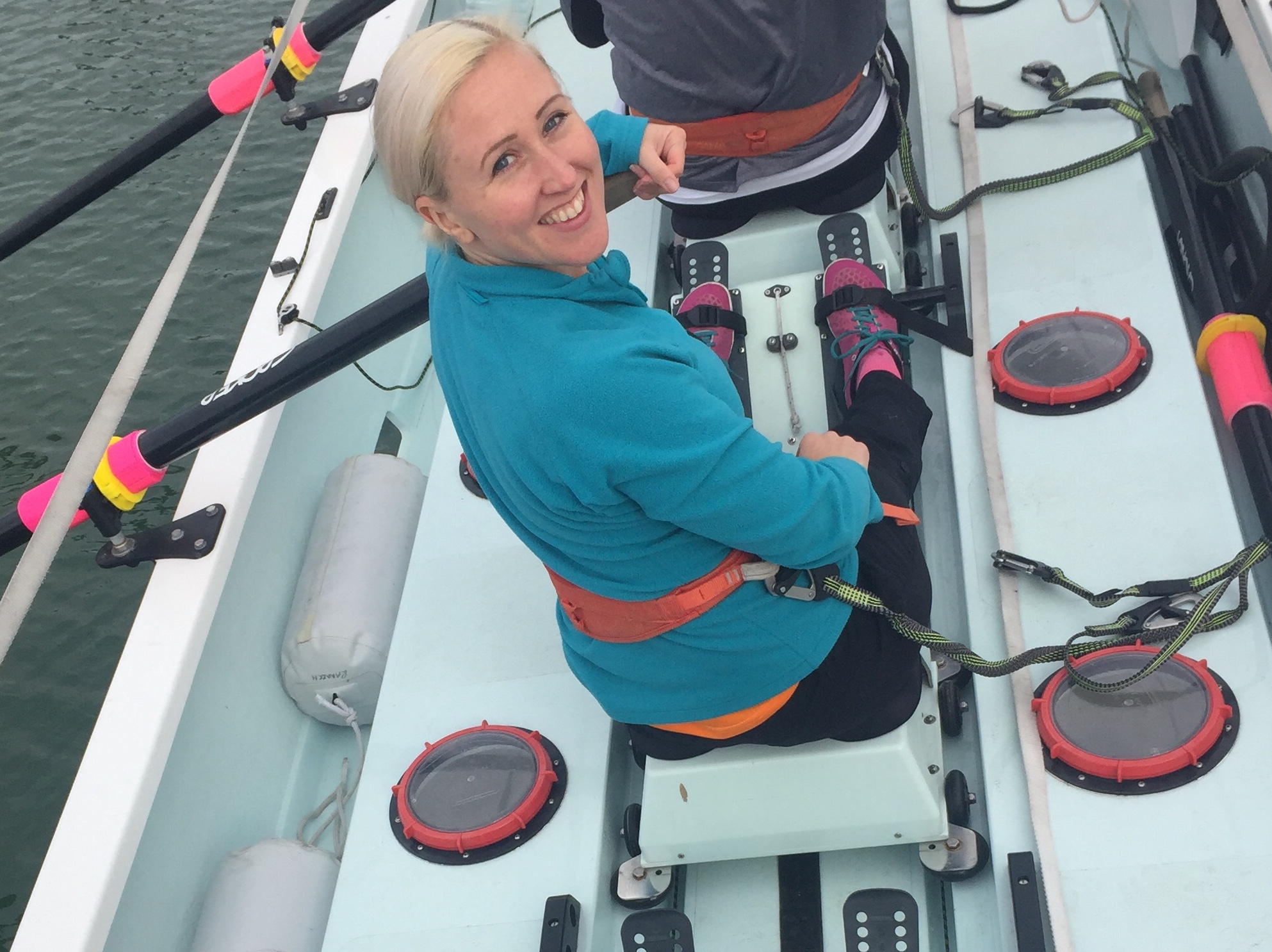 vegan woman rowing atlantic