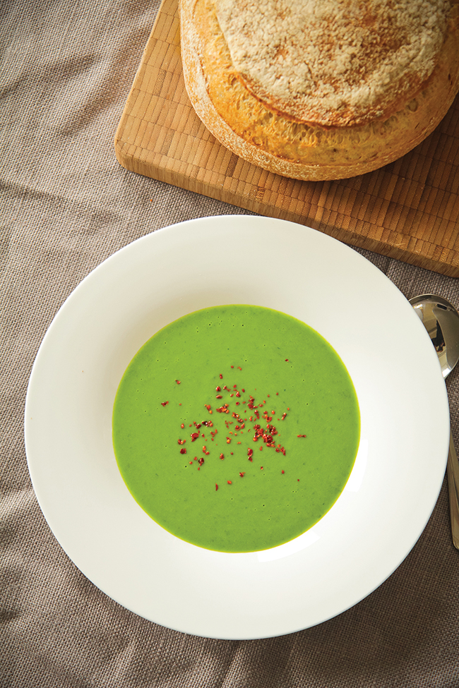 Wild garlic Soup photo Rob Wicks