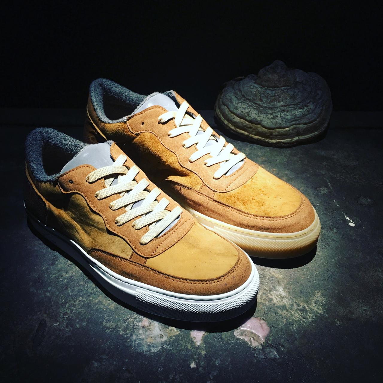 mushroom leather sneakers