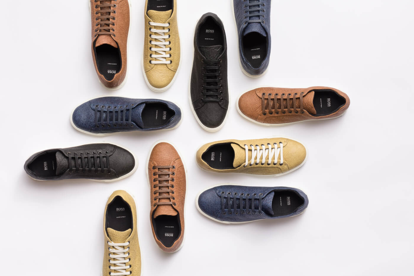 hugo boss pineapple leather shoes