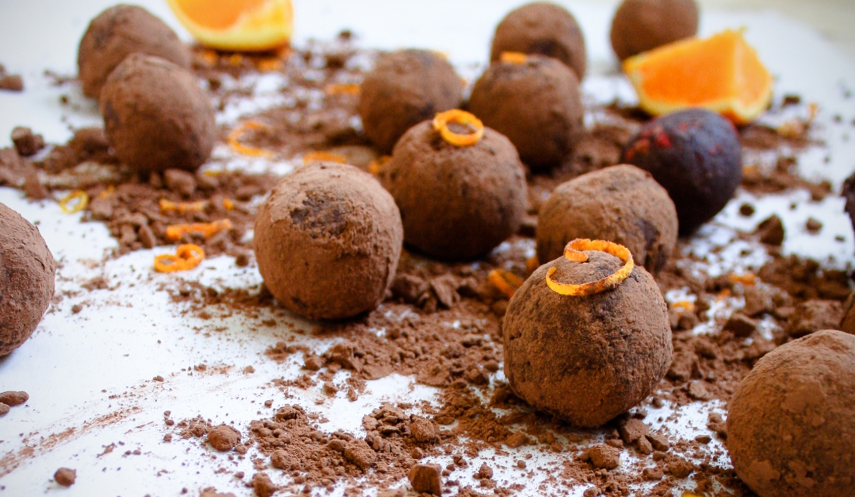 vegan chocolate orange truffles