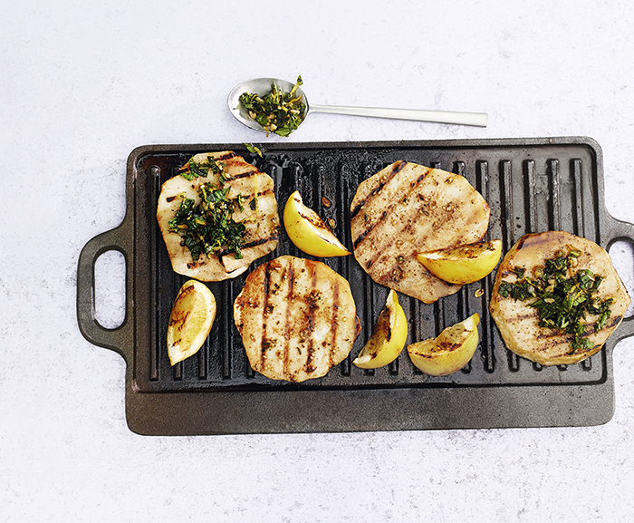 Chargrilled Celeriac Steaks BBQ