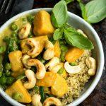 vegan jasmine coconut curry recipe