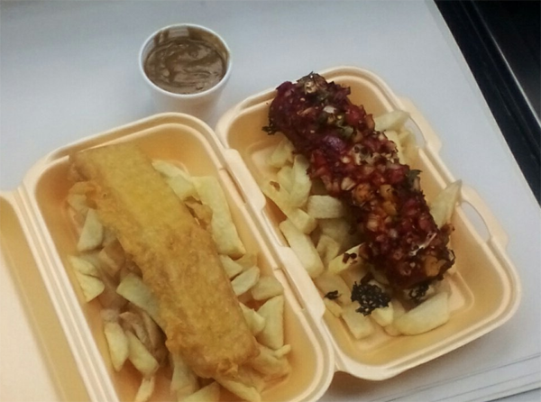 The Veggie Chippy fish and chip shop