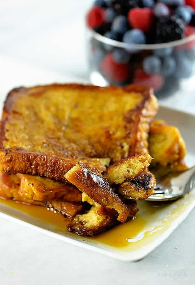 French toast with fruit and syrup