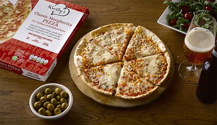 Kirstys Launches Cheesy Vegan Margherita Pizza In Tesco
