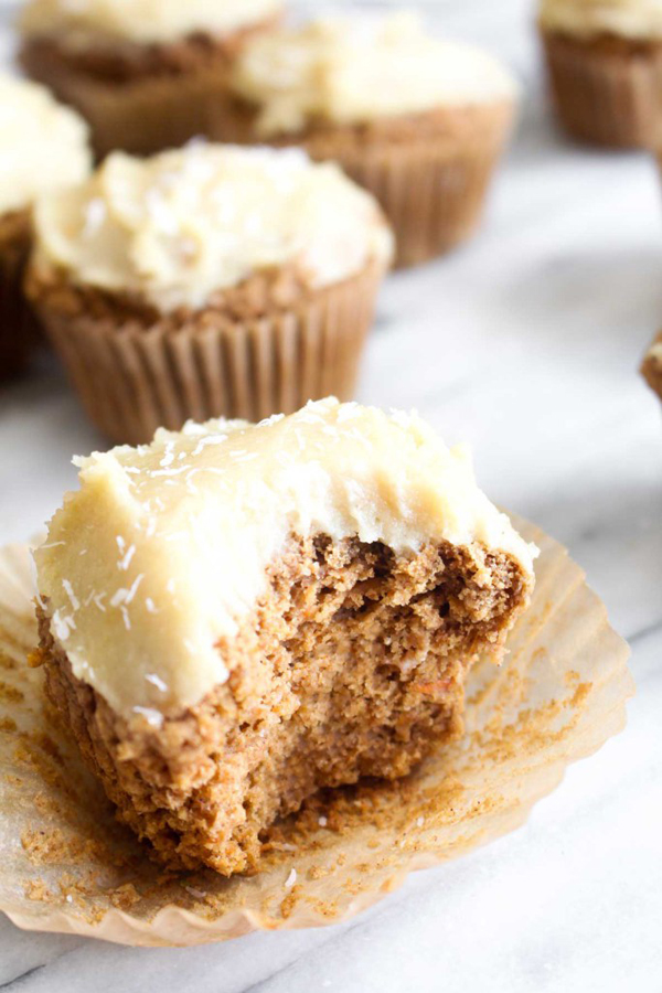 carrot vegan and gluten-free cupcakes