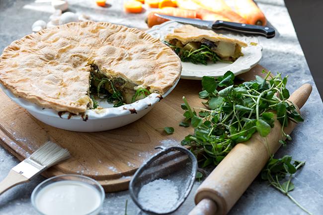 vegan mushroom pie recipe
