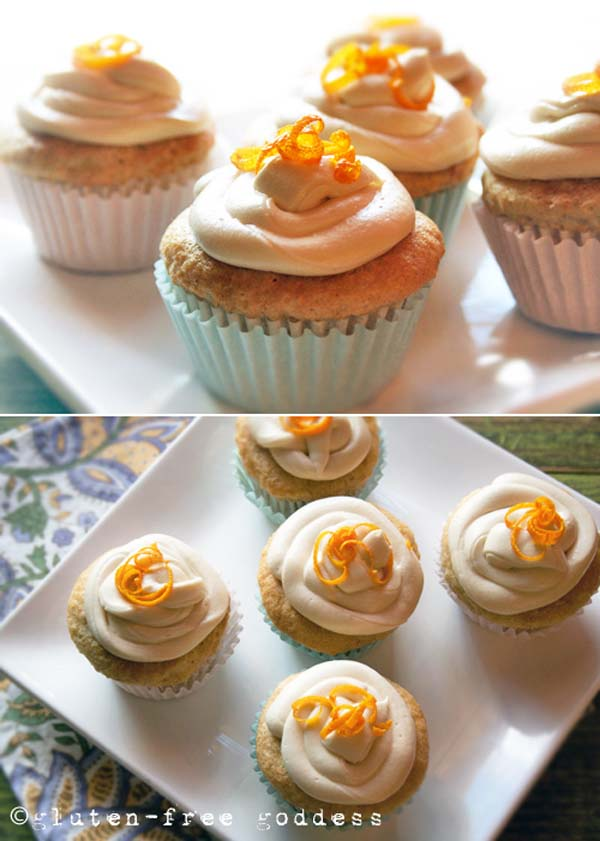 orange vegan and gluten-free cupcakes