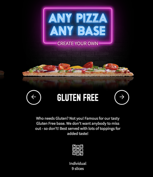 Pizza Hut gluten-free pizza