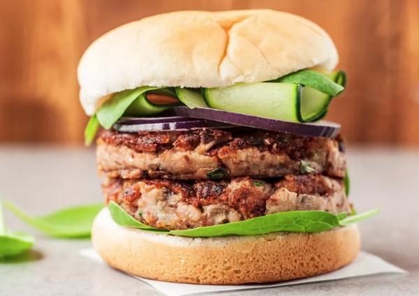 mushroom vegan burger