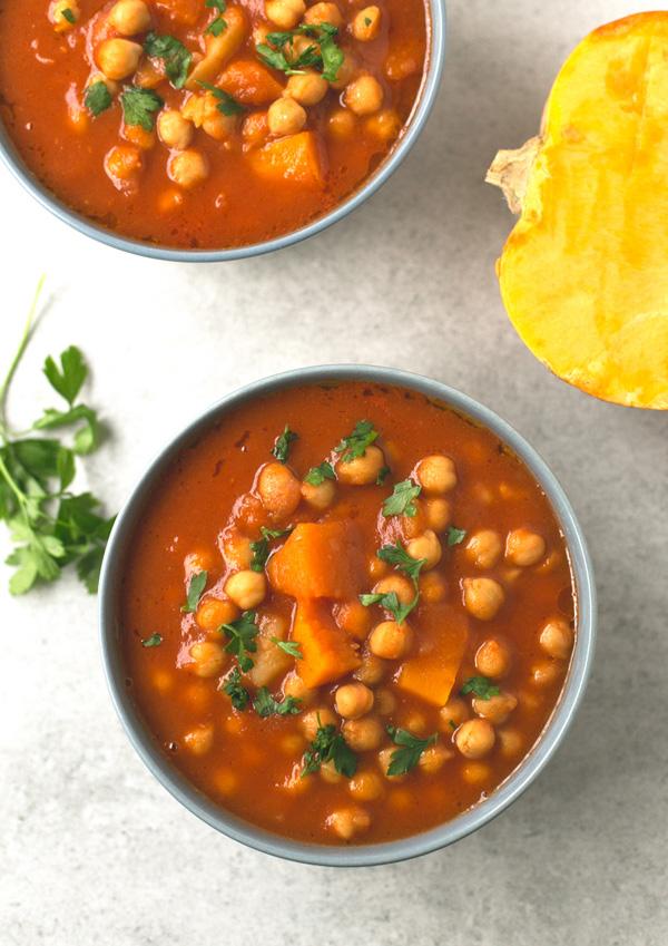 pumpkin chickpea stew