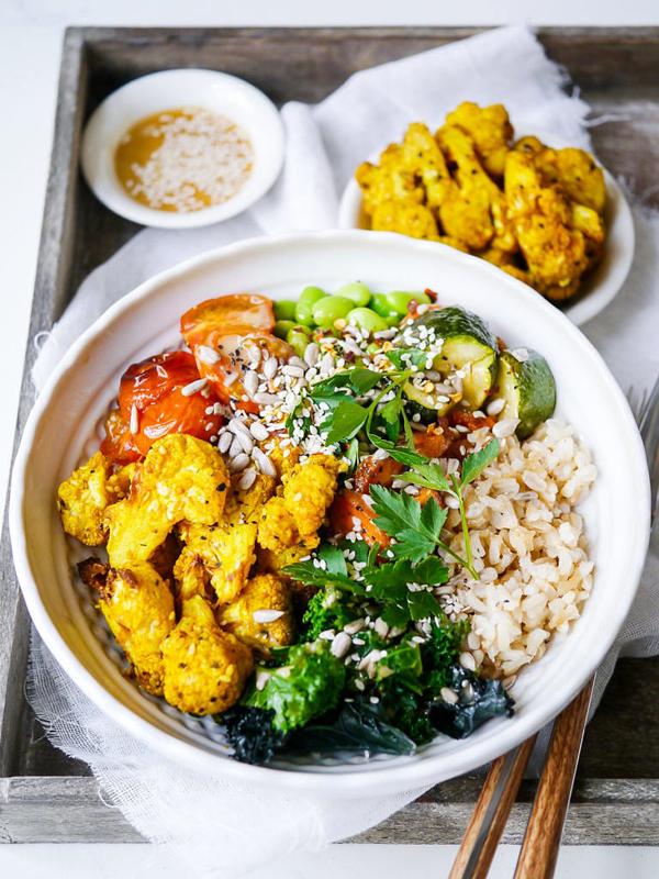 turmeric cauliflower Buddha bowl