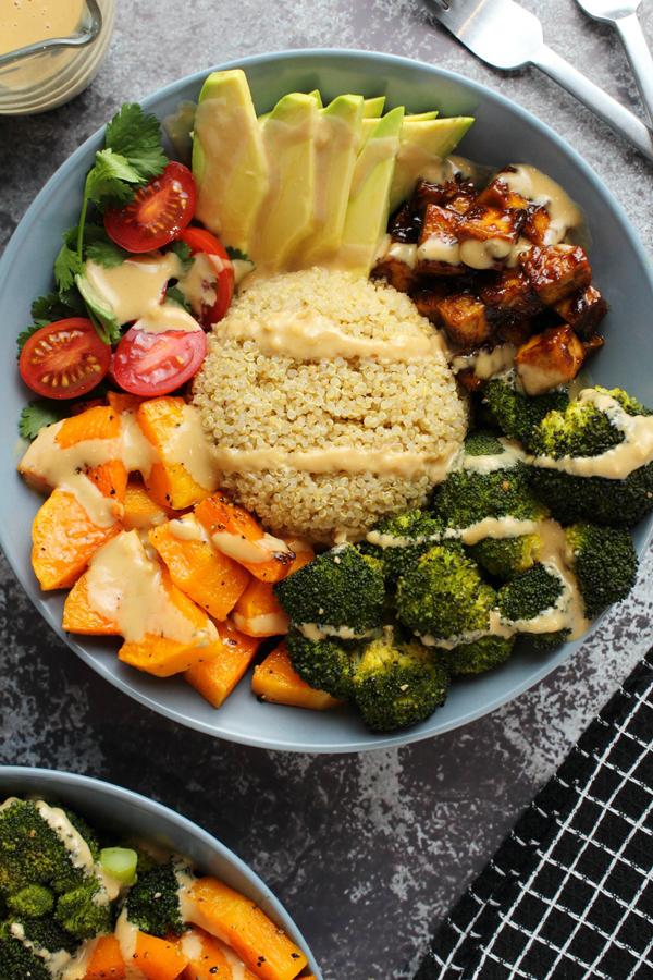 crispy tofu Buddha bowls