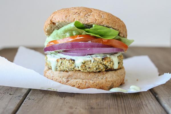 cauliflower hemp vegan burger