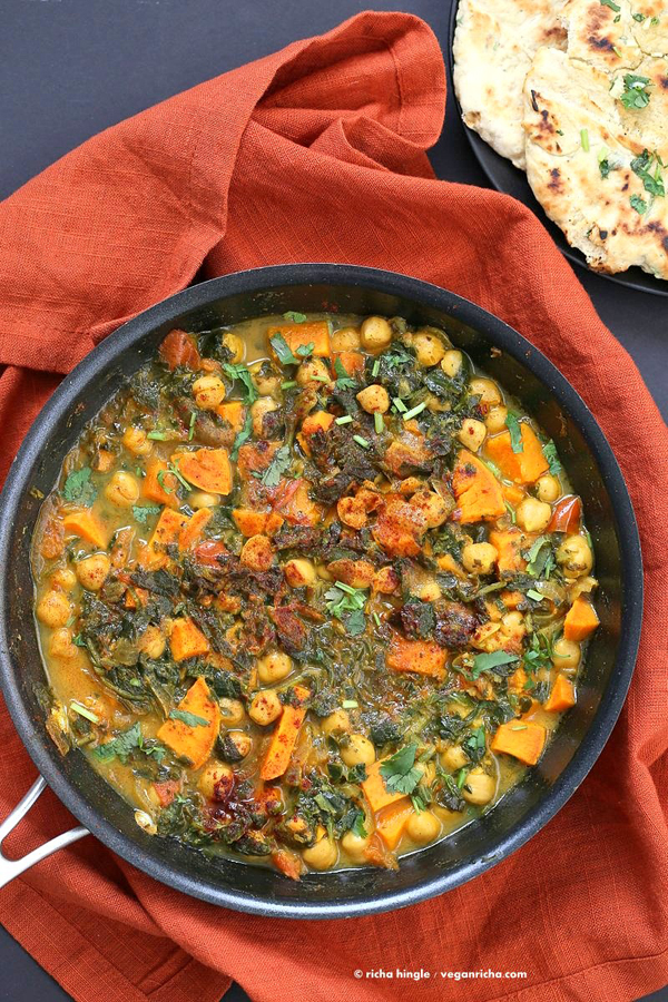 spinach curry one-pot meal