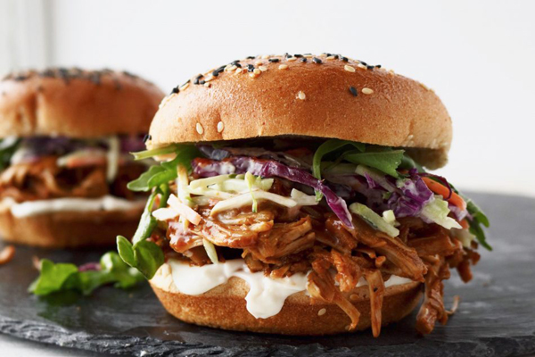 BBQ jackfruit vegan burger