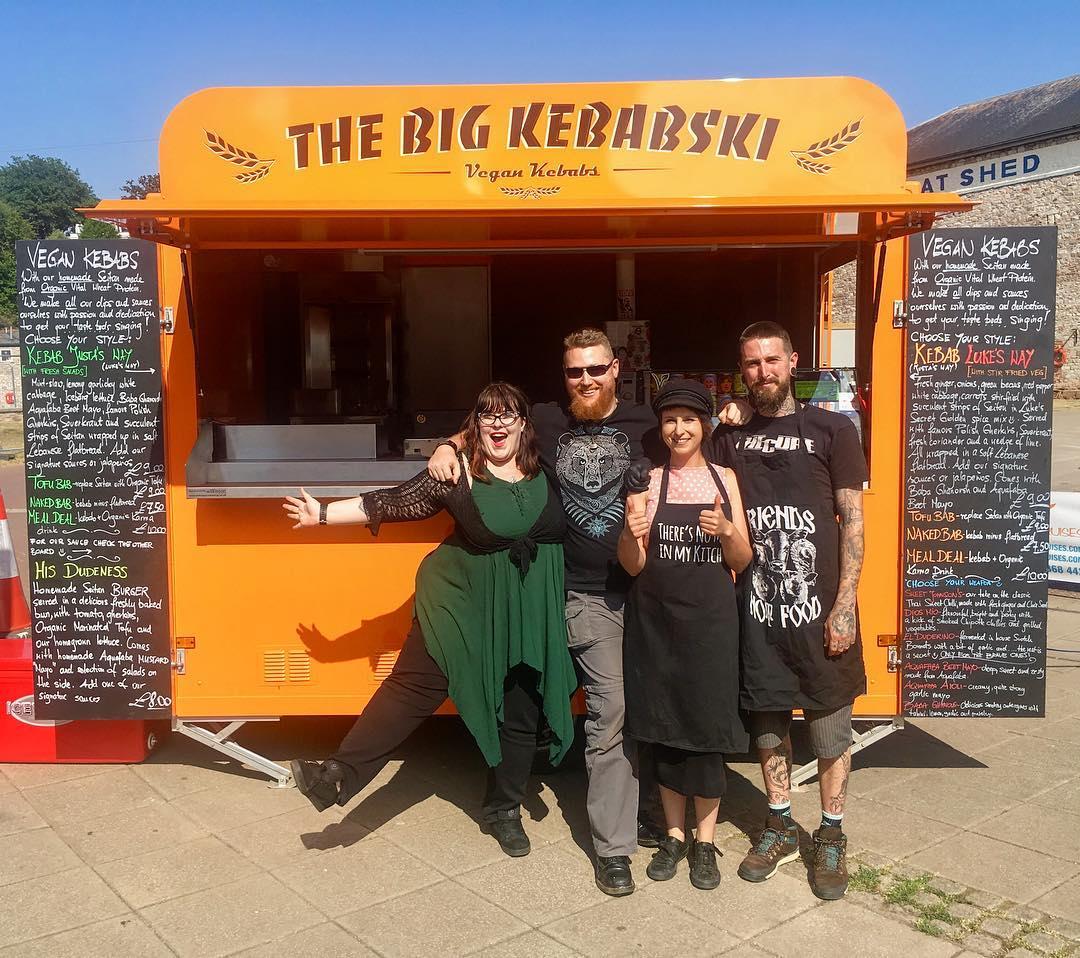 Big kebabski vegan kebab van