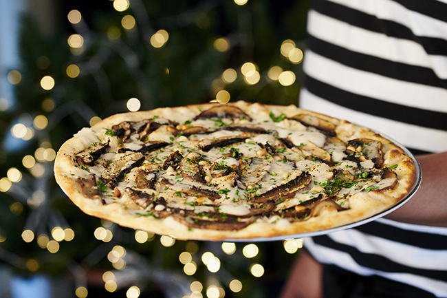 pizza express vegan christmas pizza