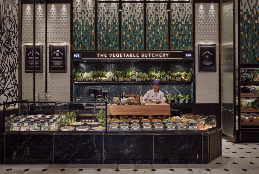 Luxury department store Harrods opens 'vegetable butcher' in its iconic foodhall