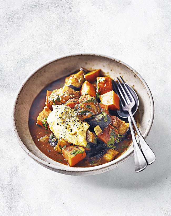 Sweet Pot Date Aubergine Tagine