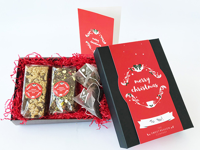 Christmas Vegan Tea For Two Gift Box the sweet reason company