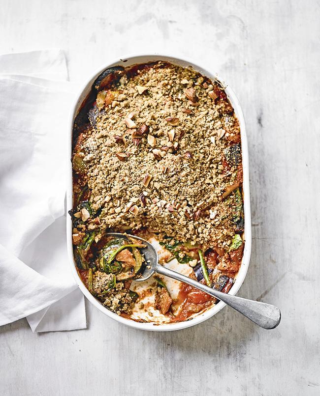 savoury vegan crumble recipe