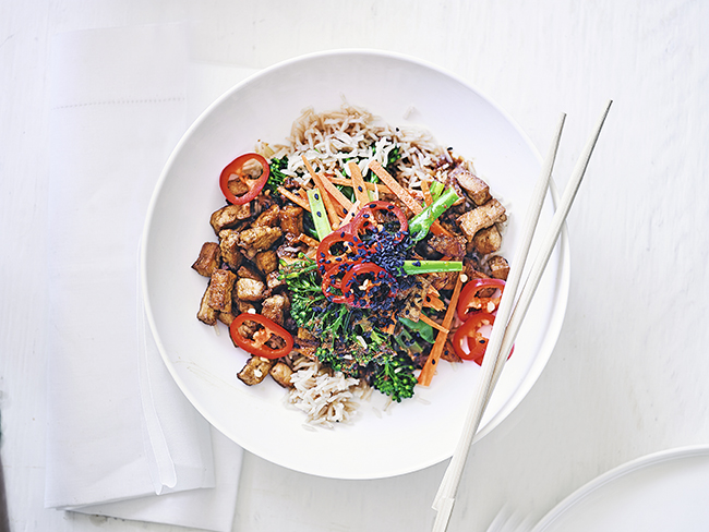 tofu rice bowl recipe
