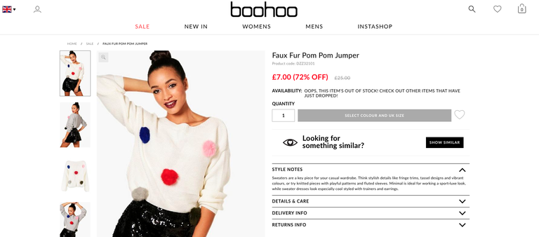 boohoo selling real fur as faux