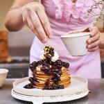 Vegan Blueberry, Coconut Almande and Pistachio Pancakes