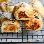 Vegan glamorgan sausage roll