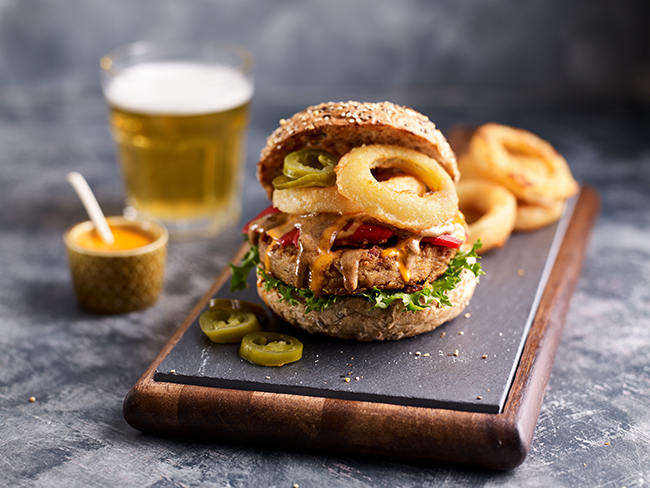 Dirty vegan burger