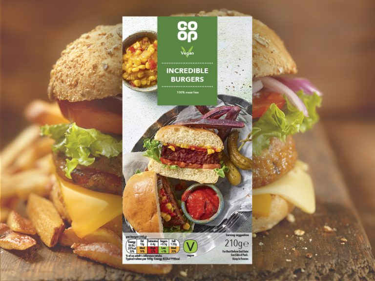 Co-op launches 'incredible' vegan burgers