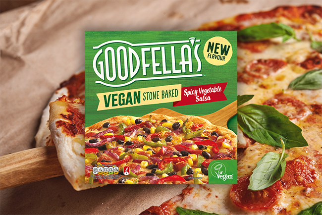 goodfella's spicy vegetable salsa pizza