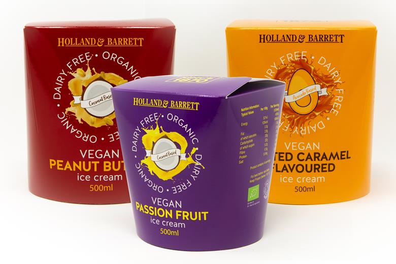 Holland & Barrett vegan ice-creams