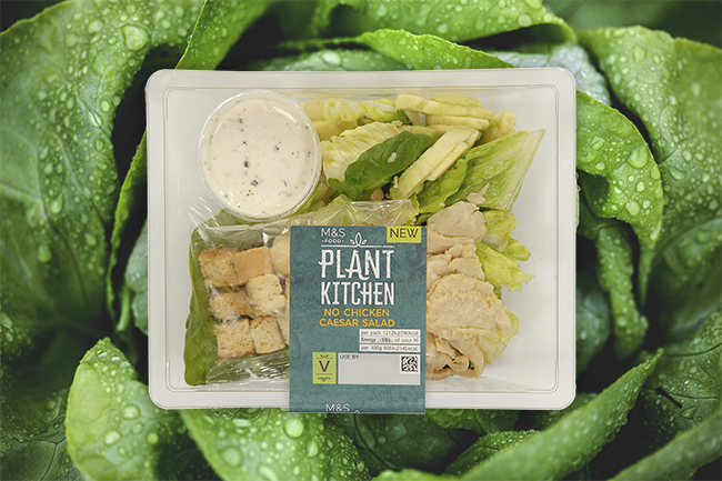 Marks & Spencer vegan chicken caesar salad