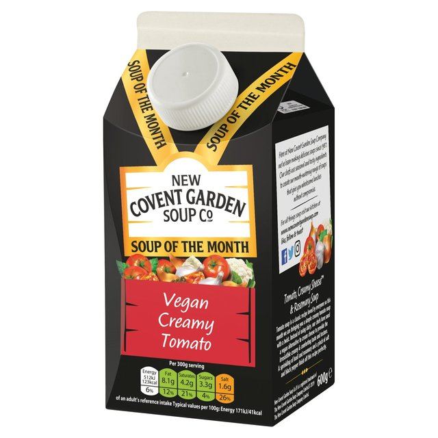 New Covent Garden Soup Co. creamy vegan tomato soup