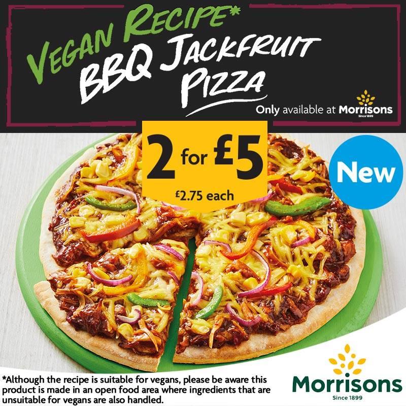 morrisons vegan jackfruit pizza