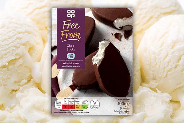 co-op vegan ice-cream