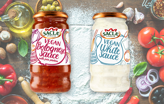 Sacla' launches range of vegan béchamel and bolognese sauces