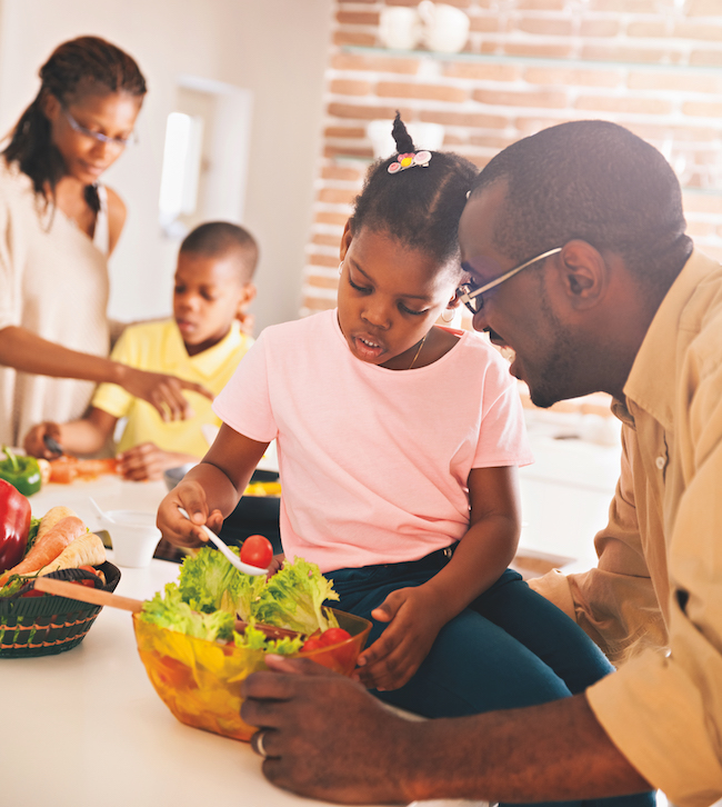 living with non-vegan family members