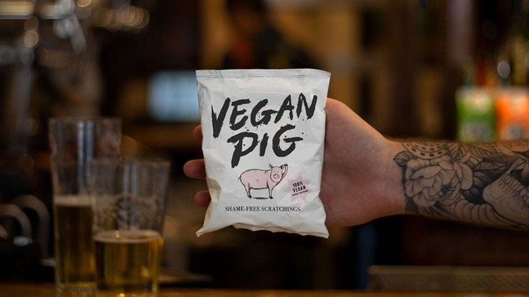 A vegan start-up has created 'Shame-Free' vegan pork scratchings