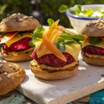 Vegan beetroot burger