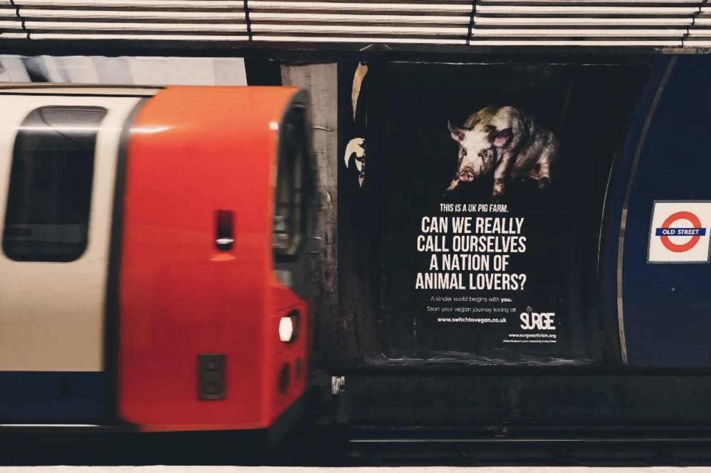 surge vegan posters london