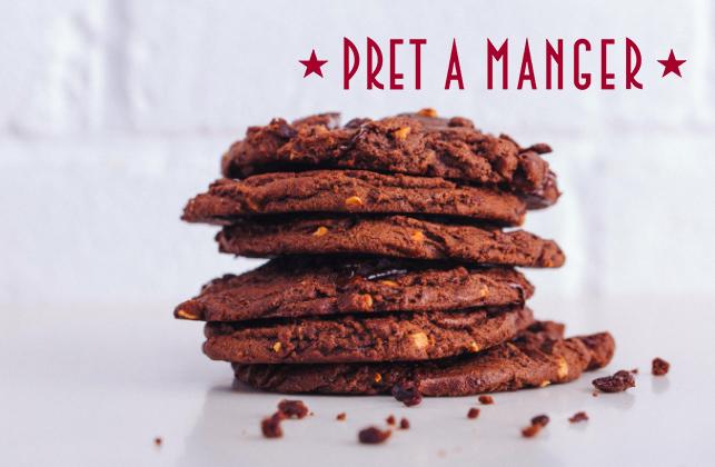 pret a manger free vegan cookies
