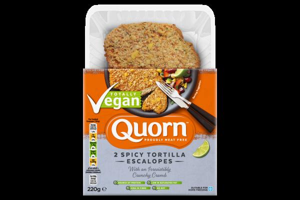 Quorn launches new spicy tortilla escalopes